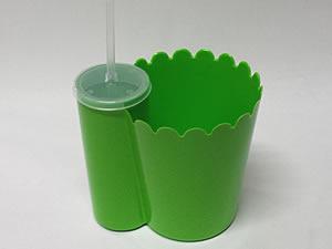 Pipofri Balde de Pipoca 1Litro com Copo 300ml Verde Claro 1unid