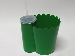 Pipofri Balde de Pipoca 1Litro com Copo 300ml Verde Escuro 1unid