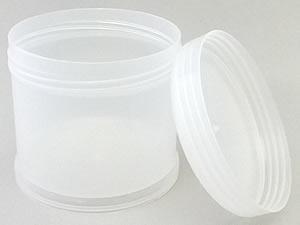 Pote 500g Redondo de Plástico PP Natural com Tampa