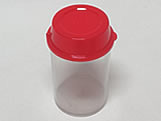 Pote Multiuso Vermelho Sólido Ref.9514 BWB, Medidas: 5 X 5 X 8.3 cm