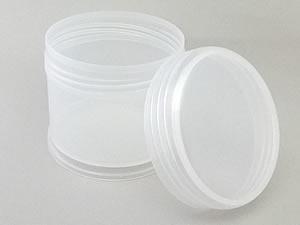 Pote 350g Redondo de Plástico PP Natural com Tampa