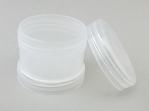 Pote 20g Redondo de Plástico PP Natural com Tampa