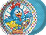 Prato Galinha Pintadinha Diversão 18cm 08unid Festcolor
