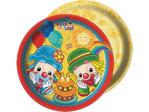 Prato Patati Patatá Parabéns 18cm 08unid Festcolor