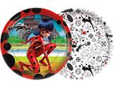 Prato Miraculous Ladybug 18cm 08unid Regina