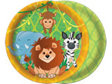 Prato Zoo Safari 18cm 08unid Festcolor, Medidas: 18 x 18 x 1 cm
