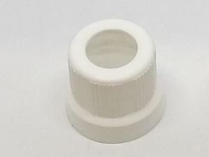 Tampa Lacre Branca 18mm Furada para Bulbo e Frasco de Vidro