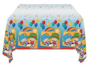 Toalha Plástica de Mesa Patati Patatá Parabéns Festcolor