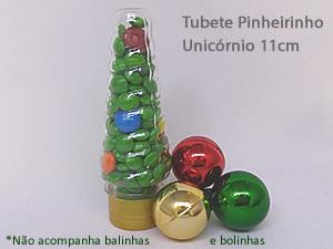 Tubete Pinheirinho Unicórnio 11cm Dourado