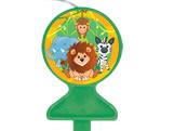 Vela de Aniversário Zoo Safari Festcolor, Medidas: 6.5 x 1 x 9.5 cm