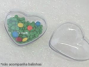 Caixa Coração Grande Cristal - 3unids