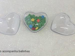 Caixa Coração Pequeno Cristal - 8unids