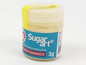 Pó para Decoração 3g Amarelo Damasco Cintilante Sugarart