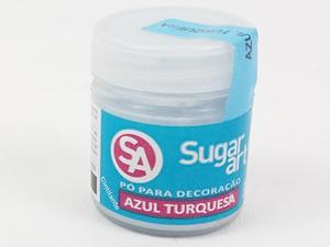 Pó para Decoração 3g Azul Turquesa Cintilante Sugarart