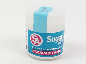 Pó para Decoração 5g Nacarado Azul Brilhante Sugarart