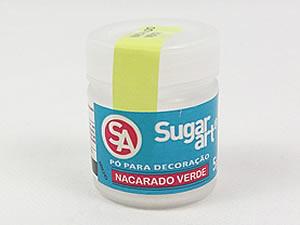 Pó para Decoração 5g Nacarado Verde Brilhante Sugarart