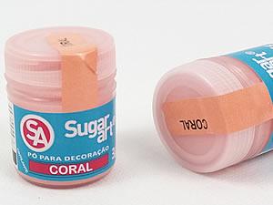 Pó para Decoração 3g Coral Cintilante Sugarart