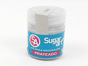 Pó para Decoração 3g Prateado Metálico Sugarart