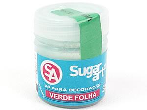 Pó para Decoração 3g Verde Folha Cintilante Sugarart