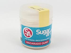 Pó para Decoração 5g Nacarado Ouro Brilhante Sugarart