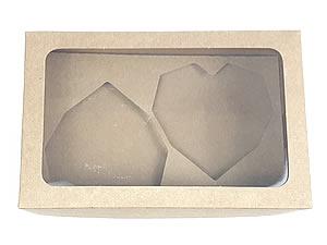 Caixa Combo-58 KRAFT para 2 Meio Corações Lapidados 200g
