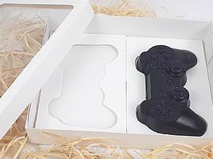 Caixa Branca para 2 Joysticks PlayStation Grande Controle Video Game
