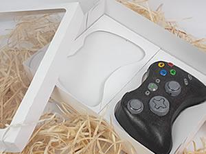Caixa Branca para 2 Joysticks XBOX Grande Controle Video Game