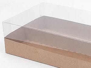 Caixa-324 KRAFT com Divisória para 20 macaron 5x2.5 cm