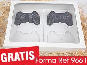 Caixa Branca para 4 Joysticks MINI PlayStation Controle Video Game
