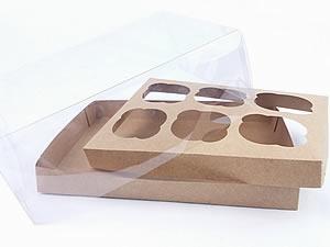 Caixa para 6 Cupcakes Padrão Combo-56