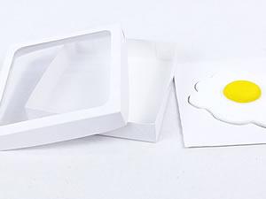 Caixa Visor Ovo Frito Estralado Branca