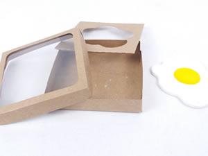 Caixa Visor Ovo Frito Estralado Kraft