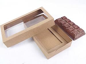 Caixa Kraft com Visor para Barra de Chocolate 300g Ref.9664 BWB