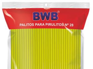Canudo Palito para Pirulito Grande Amarelo Sólido nº28 Ref.9485 BWB