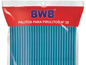 Canudo Palito para Pirulito Grande Azul Sólido nº28 Ref.9486 BWB
