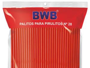 Canudo Palito para Pirulito Grande Laranja Sólido nº28 Ref.9487 BWB