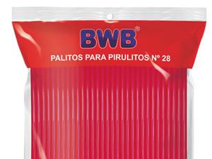Canudo Palito para Pirulito Grande Rosa Sólido nº28 Ref.9488 BWB