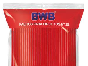 Canudo Palito para Pirulito Grande Vermelho Sólido nº28 Ref.9490 BWB