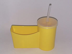 Cesto para Fritas com Copo para Refrigerante - Reifritas Amarelo