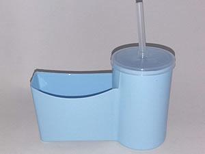 Cesto para Fritas com Copo para Refrigerante - Reifritas Azul Claro