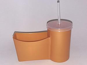 Cesto para Fritas com Copo para Refrigerante - Reifritas Dourado