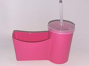 Cesto para Fritas com Copo para Refrigerante - Reifritas Pink
