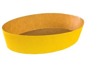 Forma Colomba Oval Amarela 500g Linha Prática Ecopack Ref.CO21550A 10unid Sulformas