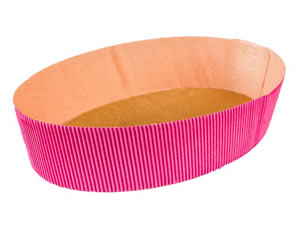 Forma Colomba Oval Pink Fucsia 500g Linha Prática Ecopack Ref.CO21550FC 10unid Sulformas