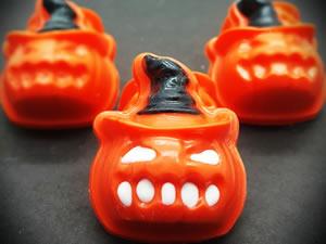 Forma com Silicone Abóbora com Chapéu Halloween Ref.9529 BWB