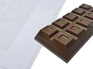 Forma com Silicone Barra de Chocolate Especial 300g Ref.9664 BWB