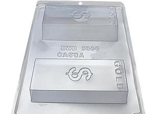 Forma com Silicone Barra de Ouro 300g Ref.9906 BWB