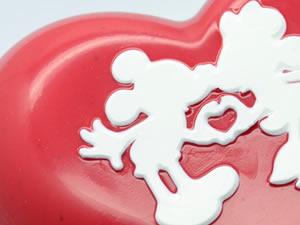 Forma com Silicone Coração Mickey e Minnie Apaixonados 500g Ref.12027 BWB