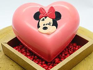 Forma com Silicone Coração Minnie 500g Ref.12029 BWB
