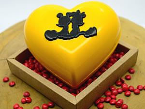 Forma com Silicone Coração Silhueta Mickey e Minnie 500g Ref.12028 BWB